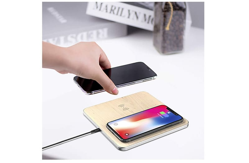 Chargeur Induction Bois Iphone